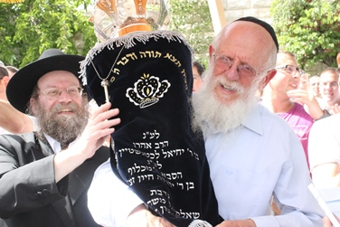 IMG 7452 HaRav Medan and Mr. Katsch with Torah web