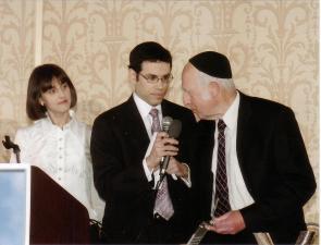 Miriam and Elie Berman with Harav Lichtenstein