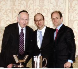 Harav Lichtenstein with Yanky and Eugene Major