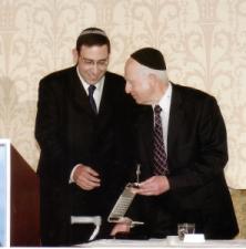 Rav Moshe Taragin with Harav Lichtenstein
